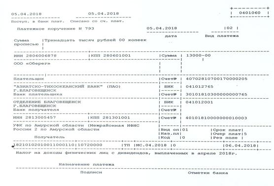 Уплата НДФЛ с дивидендов в 2019 году